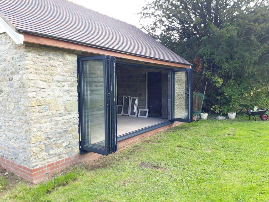 Grey Aluminium Bifold Doors Much Wenlock Telford