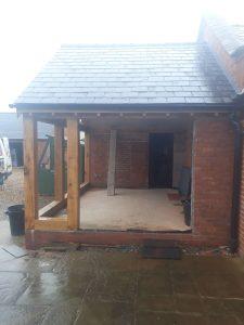 1 Aluminium windows and bifold doors into oak extension