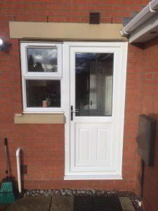 Back door and window